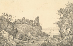 Turnberry Castle, on the coast of Ayrshire